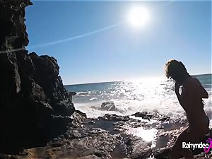 Rahyndee James public beach fucking point of view