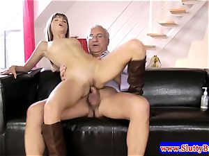 black-haired inexperienced in lingerie fucked from behind in hd
