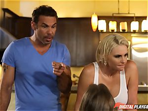Family fuck-fest lessons with stepmom and step-dad - Phoenix Marie and Alexis Adams