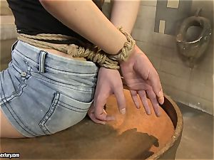 Anna Marie La Sante girly-girl punished in public wc