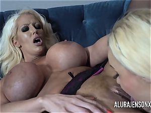 Alura and her big-titted lezzie pal Dolly get kinky