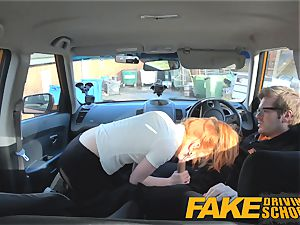 faux Driving school ultra-cute sandy-haired Ella Hughes pounds