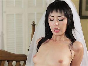 luxurious bride Marica Hase plumbs her new husband