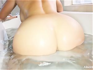 buxom Alison Tyler takes a bathtub