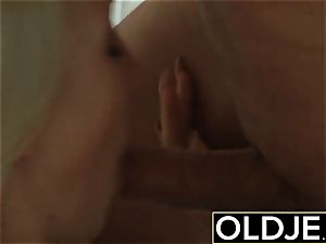 kinky Morning hook-up elder youthful pornography gf boned cum