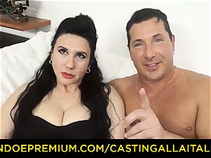 audition ALLA ITALIANA dark-haired nymphomaniac raunchy anal invasion bang-out