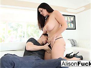 wondrous Alison Tyler takes on gigantic chisel