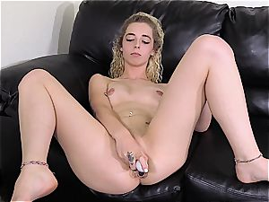 inked unexperienced blonde gonzo romped on a audition