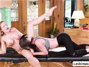 Britney Amber and Jade Nile epic scissor sex and orgasm