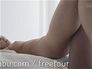 Celeste penetrates her girlfriend belt cock style