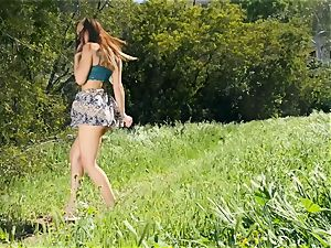 super wonderful Aidra Fox outdoor coochie getting off