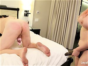 Leya ball busts Sissy Jessica then nails his arse