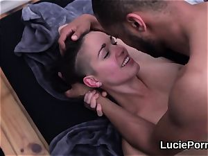 amateur lesbian kitties get their narrow quims licked and pounded