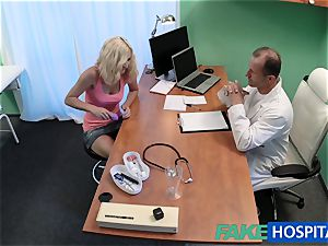 FakeHospital platinum-blonde patient frolicking with her beaver