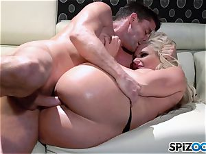 magnificent butt towheaded babe jism guzzler Phoenix Marie pulverized deep by ample meatpipe