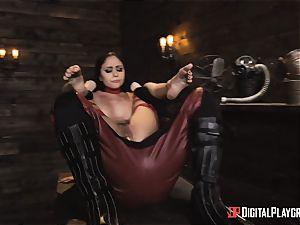 ultra-kinky superhero hump with Ariana Marie and Xander Corvus