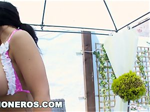 ginormous funbags european brown-haired Kyra super-steamy fucked gonzo