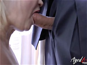 AgedLovE Lacey Starr and Paul hard-core action