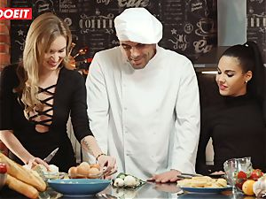LETSDOEIT - bang-out Cooking With honies Apolonia and Angel