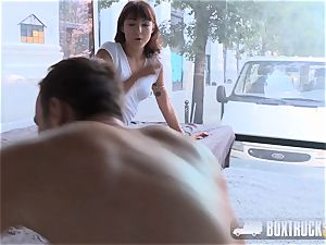 super hot brunette Suzy Rainbow Takes hard in our hump Truck