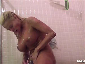 Nikita's Home video - showering and pruning herself