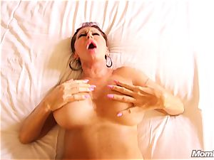 huge-chested Russian GILF unloads all over hard-on