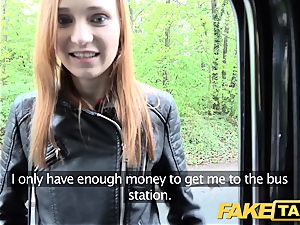fake cab slim red-haired enjoys harsh hook-up