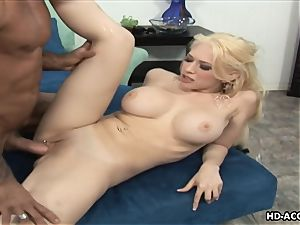 Smoking red-hot ash-blonde with yam-sized boobies gets screwed stiff