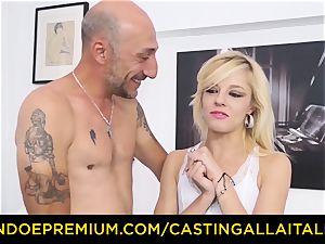 casting ALLA ITALIANA steaming ash-blonde spills in rigid anal invasion