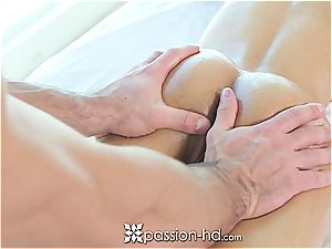 Passion-HD - huge-chested Shay Evans ravages trouser snake during rubdown