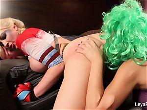 Whorley Quinn Leya gets romped rock-hard by She Joker Nadia