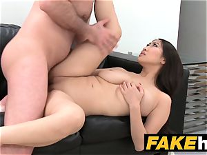 fake Agent phat boobs japanese wants hard poke