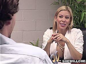 SheWillCheat - buxomy milf boss drills fresh employee