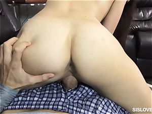 Brooke Haze cant wait to get her lips plump her brothers spunk-pump