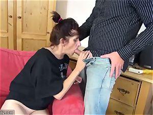 OLDNANNY mature grandma liking new meat