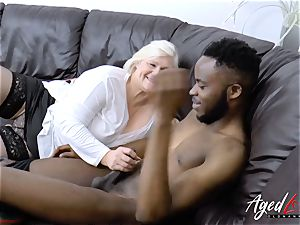 AgedLovE Lacey Starr gets interracial xxx