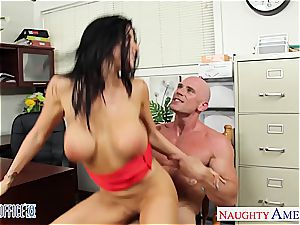 horny Romi Rain looking magnificent in the office