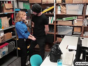 red-hot towheaded LP Officer Krissy Lynn gets fuck by a Shoplifter