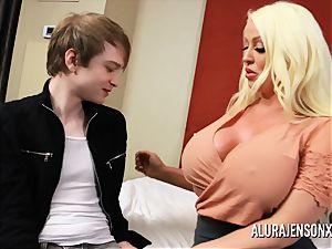 hotwife three-way with giant titty porn industry star Alura Jenson