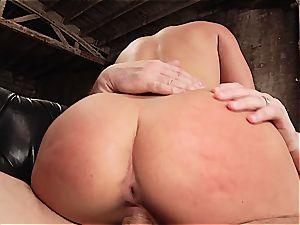 Abella Danger smashed in her large culo crevasse
