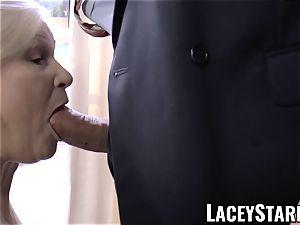 LACEYSTARR - kinkiest granny analled before cumshot