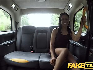 faux taxi fast pulverizing and internal cumshot for peachy culo