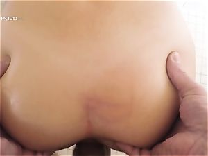 point of view - sumptuous pornstar Joseline Kelly rammed in her cock-squeezing pussylips