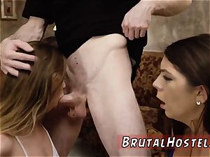 corded fart marionette and extraordinary nubile dual two youthfull sluts, Sydney Cole and Olivia Lua,