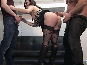 LaCochonne - French Julia Gomez in molten ass fucking threesome