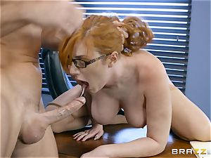 rod hungry Lauren Phillips penetrated in her ginger gash