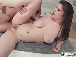 Allinternal brunette tastes her assfuck internal cumshot