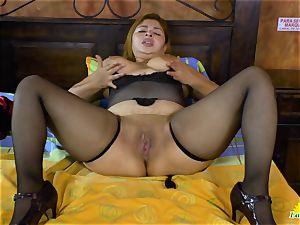 LatinChili busty Mature Karina Solo getting off