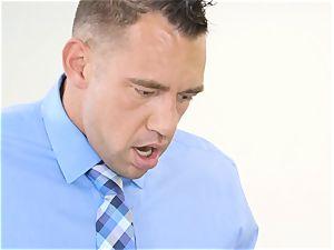 boss Jade Jantzen gargles and ravages a meaty dicked employee