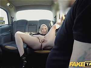 faux taxi blonde milf Victoria Summers fucked in a taxi